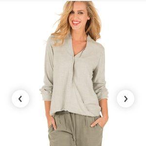 Bella Dahl drape front blouse